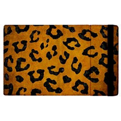 Skin5 Black Marble & Yellow Grunge (r) Apple Ipad 2 Flip Case