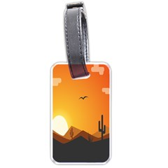 Sunset Natural Sky Luggage Tags (one Side)