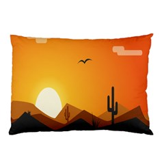Sunset Natural Sky Pillow Case (two Sides)