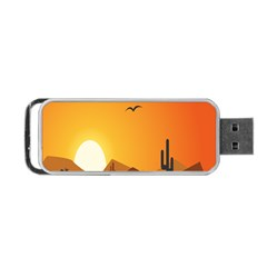 Sunset Natural Sky Portable Usb Flash (one Side)