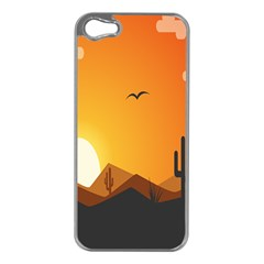 Sunset Natural Sky Apple Iphone 5 Case (silver)