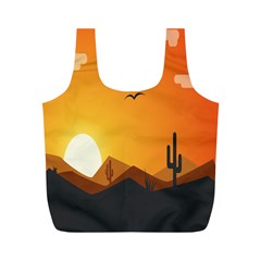 Sunset Natural Sky Full Print Recycle Bags (m)