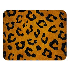 Skin5 Black Marble & Yellow Grunge (r) Double Sided Flano Blanket (large)
