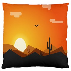 Sunset Natural Sky Large Flano Cushion Case (two Sides)