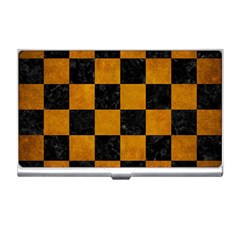 Square1 Black Marble & Yellow Grunge Business Card Holders