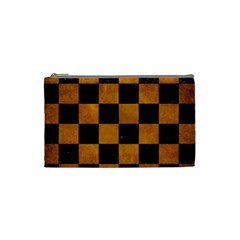Square1 Black Marble & Yellow Grunge Cosmetic Bag (small)