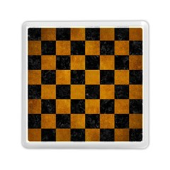 Square1 Black Marble & Yellow Grunge Memory Card Reader (square)