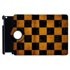 Square1 Black Marble & Yellow Grunge Apple Ipad 3/4 Flip 360 Case