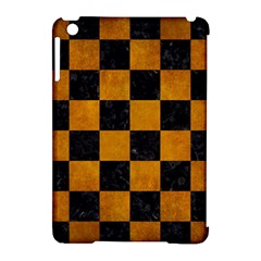 Square1 Black Marble & Yellow Grunge Apple Ipad Mini Hardshell Case (compatible With Smart Cover)