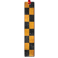 Square1 Black Marble & Yellow Grunge Large Book Marks