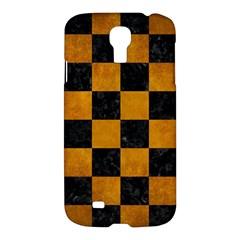Square1 Black Marble & Yellow Grunge Samsung Galaxy S4 I9500/i9505 Hardshell Case