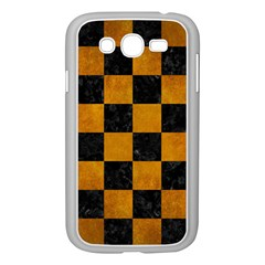 Square1 Black Marble & Yellow Grunge Samsung Galaxy Grand Duos I9082 Case (white)