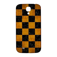 Square1 Black Marble & Yellow Grunge Samsung Galaxy S4 I9500/i9505  Hardshell Back Case