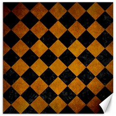 Square2 Black Marble & Yellow Grunge Canvas 20  X 20