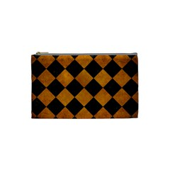 Square2 Black Marble & Yellow Grunge Cosmetic Bag (small)