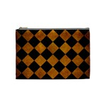 SQUARE2 BLACK MARBLE & YELLOW GRUNGE Cosmetic Bag (Medium)  Front
