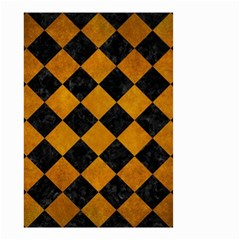 Square2 Black Marble & Yellow Grunge Small Garden Flag (two Sides)