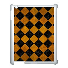 Square2 Black Marble & Yellow Grunge Apple Ipad 3/4 Case (white)