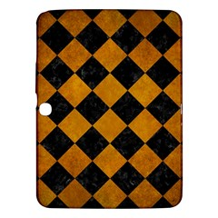 Square2 Black Marble & Yellow Grunge Samsung Galaxy Tab 3 (10 1 ) P5200 Hardshell Case