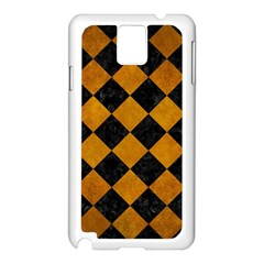 Square2 Black Marble & Yellow Grunge Samsung Galaxy Note 3 N9005 Case (white)