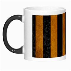 Stripes1 Black Marble & Yellow Grunge Morph Mugs