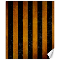 Stripes1 Black Marble & Yellow Grunge Canvas 8  X 10