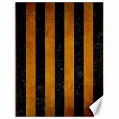 Stripes1 Black Marble & Yellow Grunge Canvas 18  X 24
