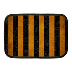 Stripes1 Black Marble & Yellow Grunge Netbook Case (medium)