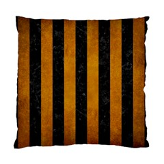 Stripes1 Black Marble & Yellow Grunge Standard Cushion Case (two Sides)