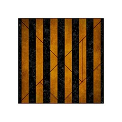 Stripes1 Black Marble & Yellow Grunge Acrylic Tangram Puzzle (4  X 4 )