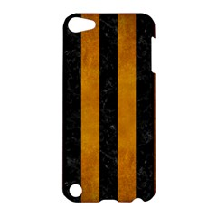 Stripes1 Black Marble & Yellow Grunge Apple Ipod Touch 5 Hardshell Case