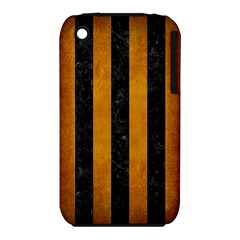 Stripes1 Black Marble & Yellow Grunge Iphone 3s/3gs
