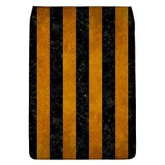 Stripes1 Black Marble & Yellow Grunge Flap Covers (l)