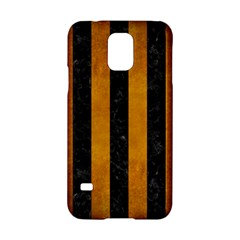 Stripes1 Black Marble & Yellow Grunge Samsung Galaxy S5 Hardshell Case