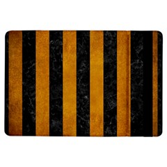 Stripes1 Black Marble & Yellow Grunge Ipad Air Flip