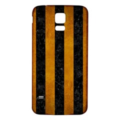 Stripes1 Black Marble & Yellow Grunge Samsung Galaxy S5 Back Case (white)