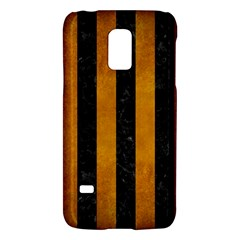 Stripes1 Black Marble & Yellow Grunge Galaxy S5 Mini