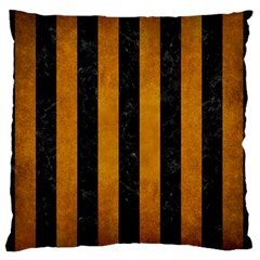 Stripes1 Black Marble & Yellow Grunge Standard Flano Cushion Case (two Sides)