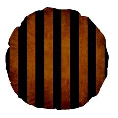 Stripes1 Black Marble & Yellow Grunge Large 18  Premium Flano Round Cushions