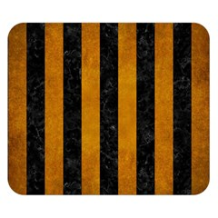 Stripes1 Black Marble & Yellow Grunge Double Sided Flano Blanket (small)