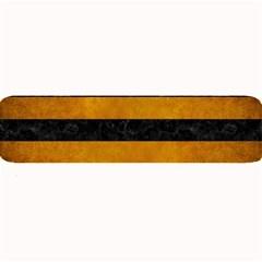 Stripes2 Black Marble & Yellow Grunge Large Bar Mats