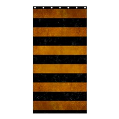 Stripes2 Black Marble & Yellow Grunge Shower Curtain 36  X 72  (stall)