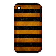 Stripes2 Black Marble & Yellow Grunge Iphone 3s/3gs