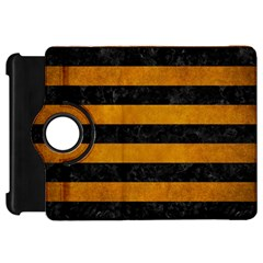Stripes2 Black Marble & Yellow Grunge Kindle Fire Hd 7