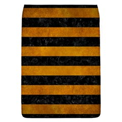 Stripes2 Black Marble & Yellow Grunge Flap Covers (l)