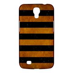 Stripes2 Black Marble & Yellow Grunge Samsung Galaxy Mega 6 3  I9200 Hardshell Case
