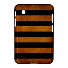 Stripes2 Black Marble & Yellow Grunge Samsung Galaxy Tab 2 (7 ) P3100 Hardshell Case