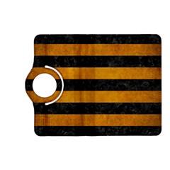 Stripes2 Black Marble & Yellow Grunge Kindle Fire Hd (2013) Flip 360 Case