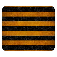Stripes2 Black Marble & Yellow Grunge Double Sided Flano Blanket (small)