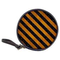 Stripes3 Black Marble & Yellow Grunge Classic 20 Cd Wallets